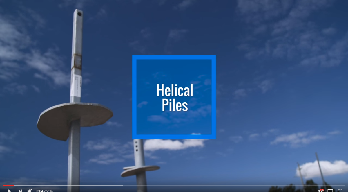 Helical Pile Video