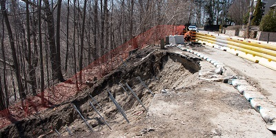 Emergency Slope Stabilization with Helical Anchors banner