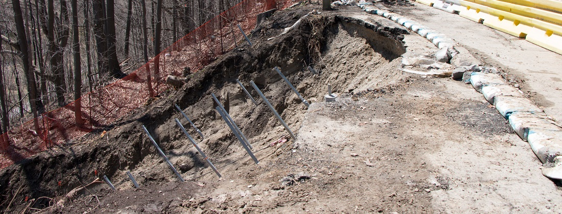 Emergency Slope Stabilization with Helical Anchors | Details